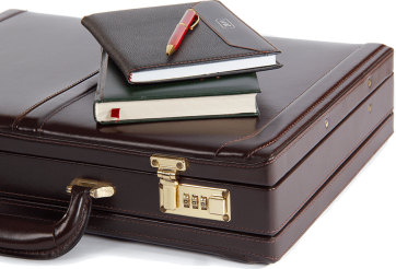 books on briefcase